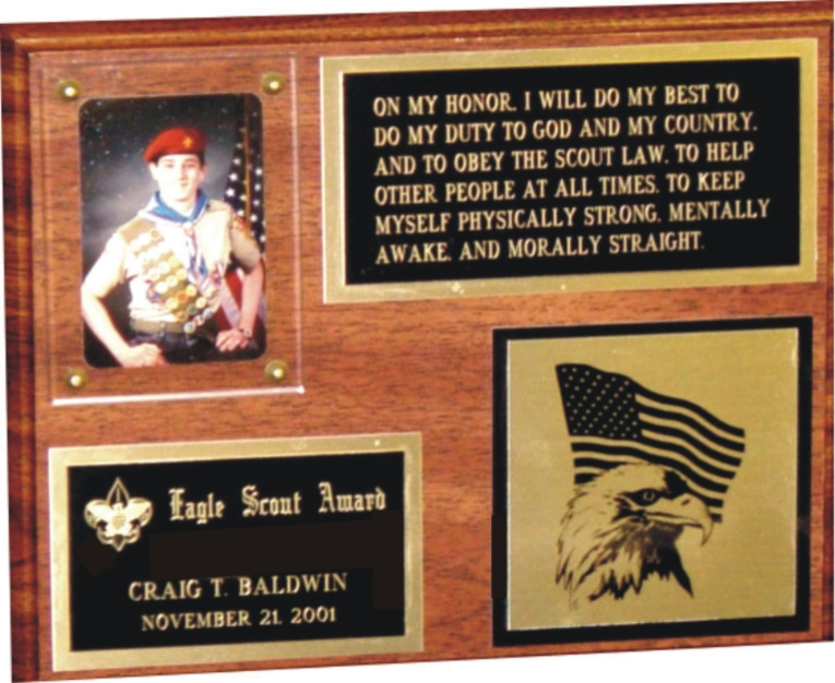 510 - Eagle Scout Plaque